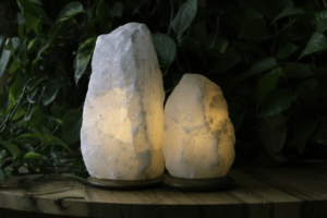 So Well Made Rare White Himalayan Salt Lamp Set